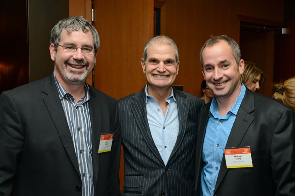 Mark Strauss President Interior Design Flanked By Dan Tuohy And Michael Of Furniture Winner In The Contract Desking Systems