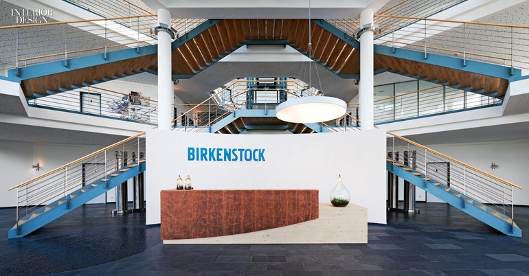 638710fa1ada The latter s desk is partially wrapped in aged leather provided by  Birkenstock. Photography by Joachim Grothus.