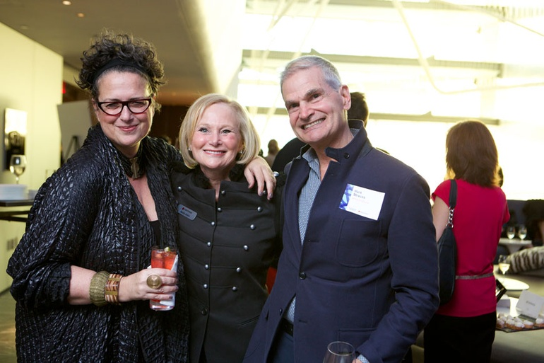 Cindy Allen Editor In Chief Of Interior Design With Randy Rubin Host The Party And Co Owner Crypton Mark Strauss President