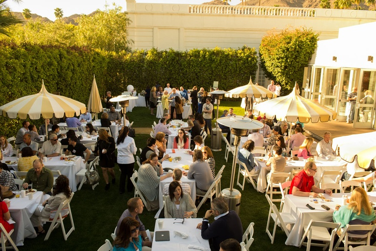 Lunch On The Ballroom Lawn At Parker Palm Springs Photography By Kevin Newsome