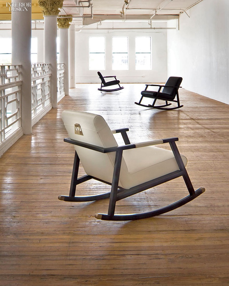 Eduardo Rocking Chairs In Seike Wood With Leather Upholstery By Adriana  Hoyos.