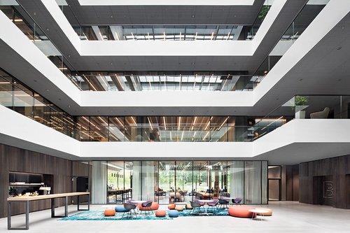 Ippolito Fleitz Group Helps Software Company Aeb Explore New Territory In Stuttgart Germany Interior Design Magazine