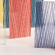 Skyline Design Taps Gensler to Create Linework, a Collection of Striated Safety Glass