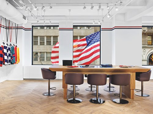 Env Salutes Tommy Hilfiger S Patriotic Traditions At The Fashion Brand S Nyc Office Interior Design Magazine