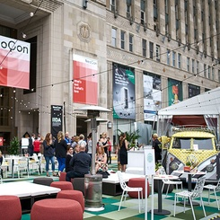 Haworth, Gensler, and theMART Debut New Social Space at NeoCon 2019