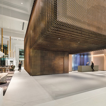 Office interior decoration House 70 Hudson Street By Studios Architecture 2018 Best Of Year Winner For Commercial Lobby Kunal Interiors Office Interior Design Projects