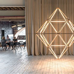 Stickbulb Duo Brings Edgy Showroom to Queens-Based Studio