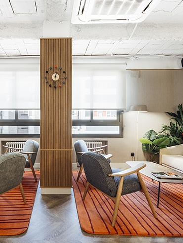 Stone Designs Gives Mid Century Mod A Contemporary Twist In Teadsu0027 Madrid  Office