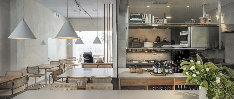 Craft Bloom Cooks Up A Minimalist Restaurant Called Opa In Tel Aviv