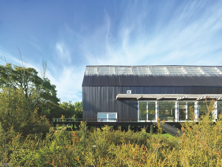 32d4955e5f Architect Mathias Klotz Creates a Pair of Cottages on a Remote Island in  Southern Chile