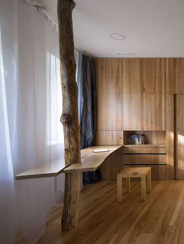 Custom Wood Features Define A Meditative Home In Ukraine By Ryntovt Design
