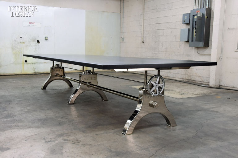 New Furniture Products That Range From Delicate To Hearty - Vintage industrial conference table