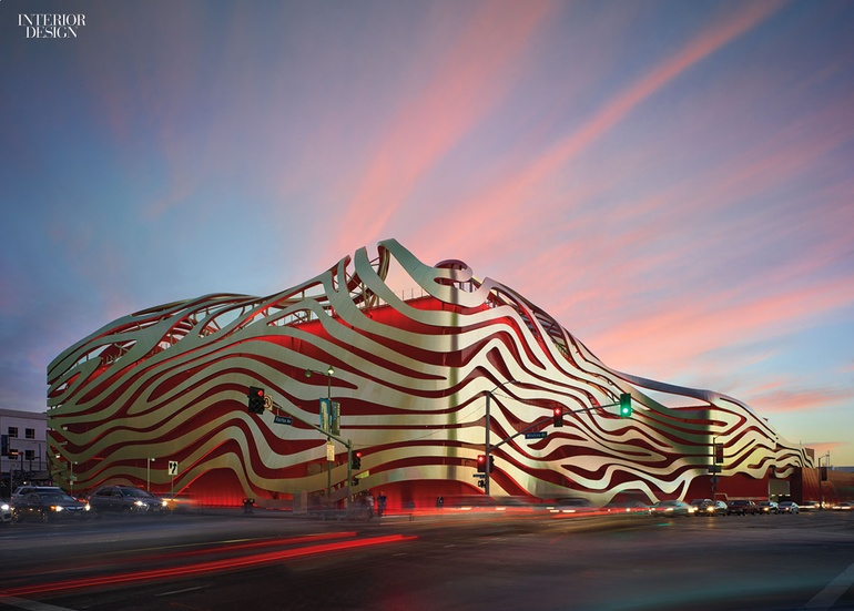 Car Museum Los Angeles >> Kpf S Petersen Automotive Museum Stops Traffic With Head Turning Facade