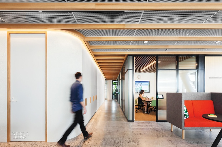 dropbox corporate office reception dropboxs intimate sydney office channels the home