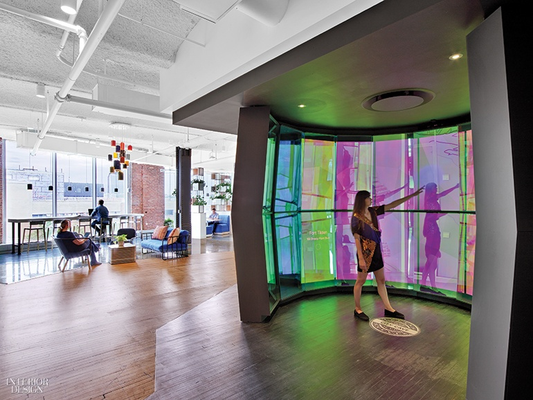googles nyc office by interior architects has eye catching features at every turn - Chelsea Interior Designers
