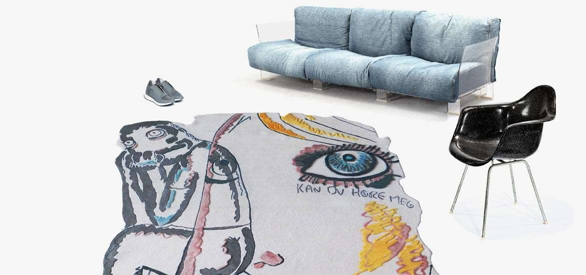 henzel studio debuts new rugs by bjarne melgaard and olaf breuning in hong kong - Interior Des