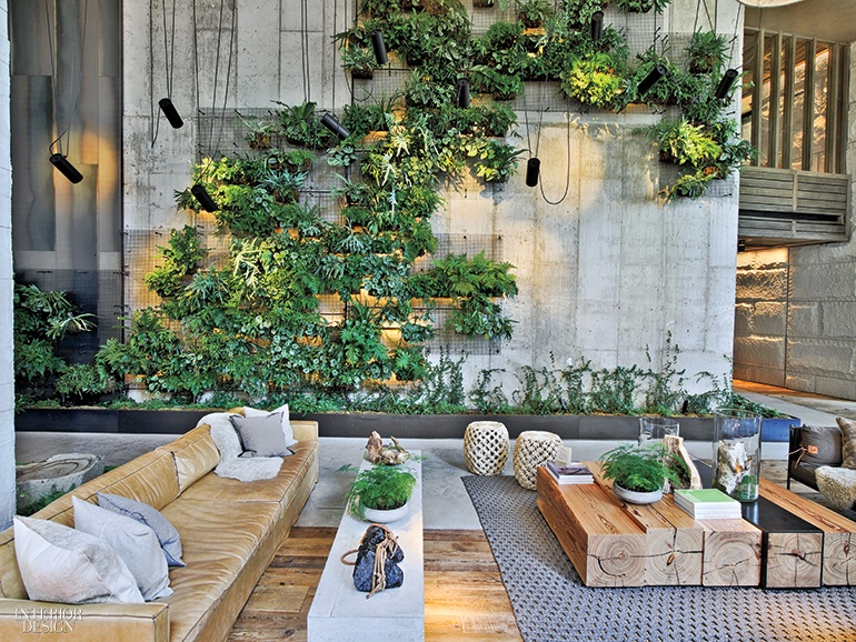 Inc architecture design keeps it local at 1 hotel Interior design plants inside house