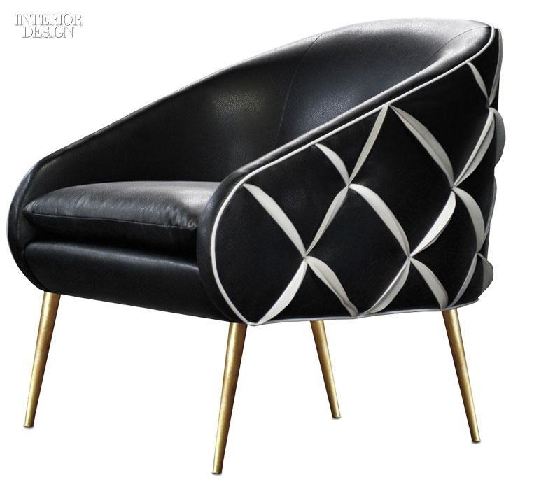Tina Nicoleu0027s Dali Chair In Leather With Brass Legs By Nathan Anthony  Furniture.