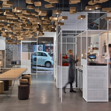 Good Ofist Decorates An Istanbul Sunglasses Shop With Cork And Cars