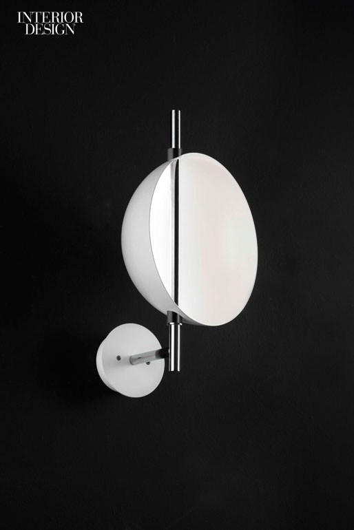 Victor Vasilevu0027s Superluna Sconce In Painted Metal With Aluminum Reflectors  By Oluce.