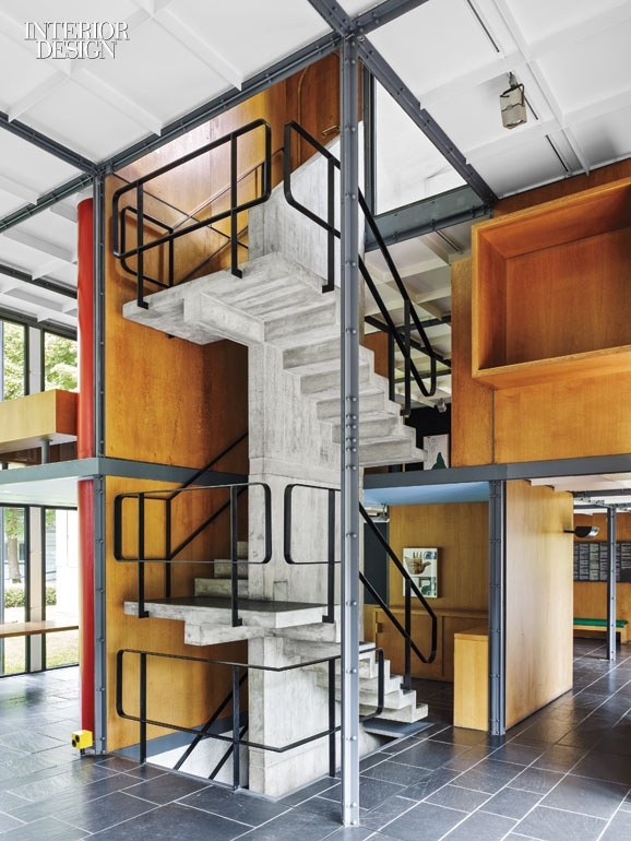 A Material Le Corbusier Championed Throughout His Career Concrete Makes One Of Its Few Appearances Here For The Staircase Photography By Georg Aerni