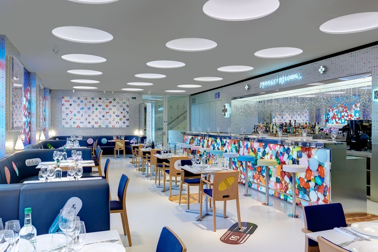 Damien Hirst Prescribes A Dose Of Fine Art At Pharmacy 2 Restaurant