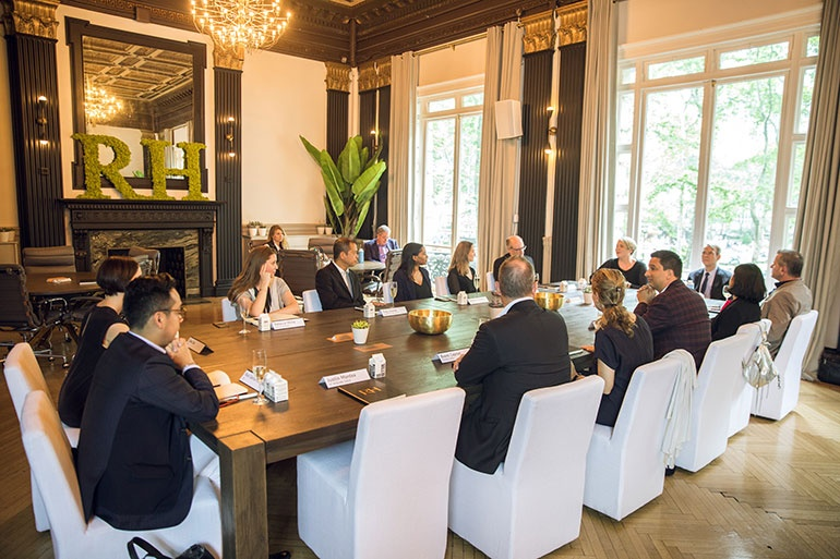 Interior Design And RH Contract Host Roundtable About Reimagining The  Workplace