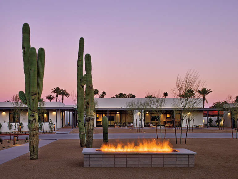 Edg and delawie craft a modernist oasis for andaz scottsdale - Interior decorator scottsdale az ...