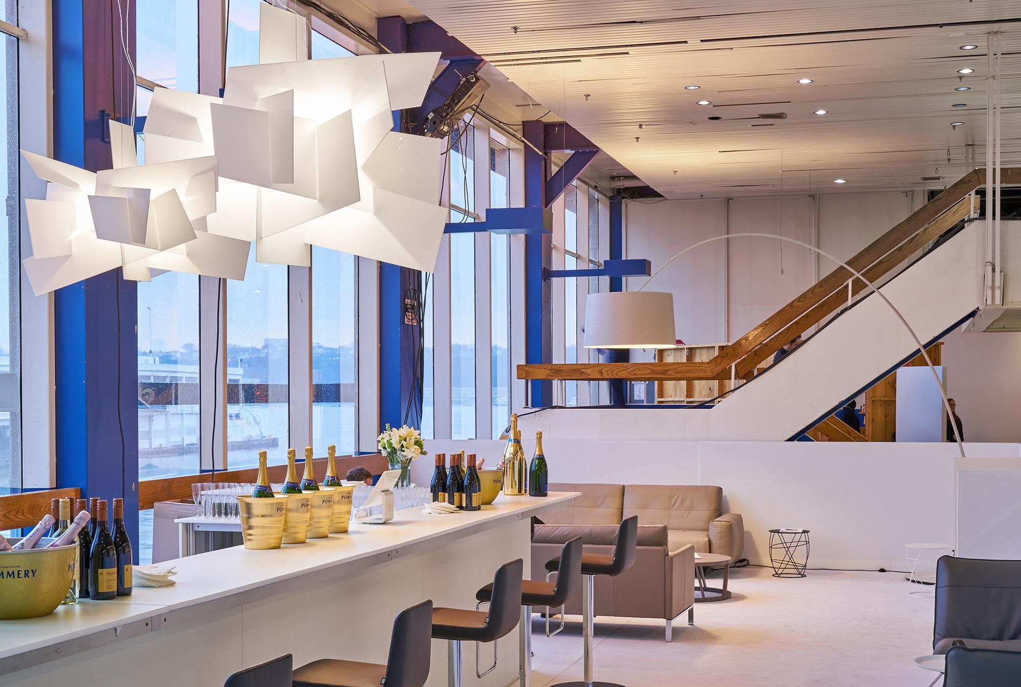foscarini illuminates the armory show s vip lounges. Black Bedroom Furniture Sets. Home Design Ideas