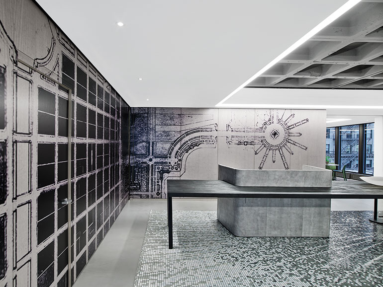 New iida headquarters by gensler thinks big chicago scale for Office design events