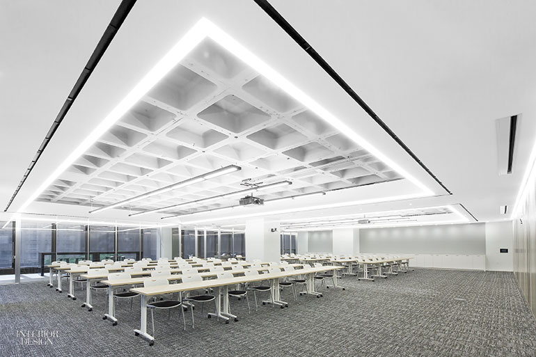 The Training Room Seats 100 In Stacking Chairs By Studio Weber Associates Photography Michelle Litvin