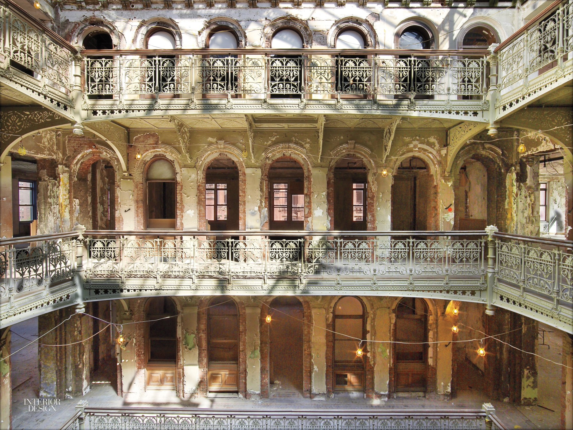 Cast Iron Paint >> The Lost Atrium of the Temple Court Building in NYC