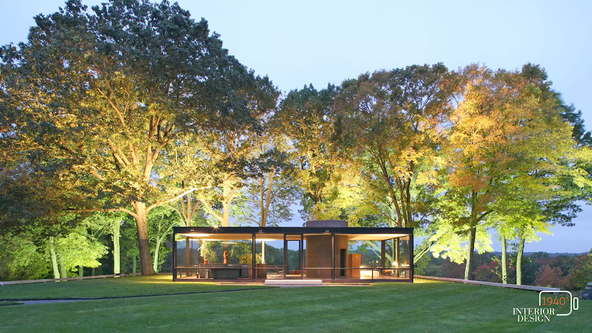 glass house interior design.  Behind the Design Philip Johnson s Glass House
