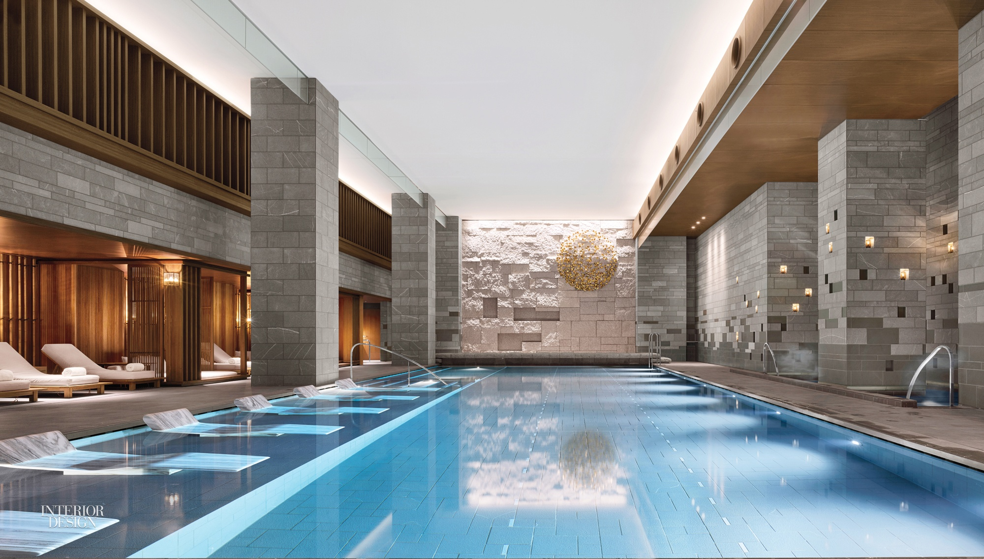 A Swimming Pool Inside The Four Seasons Hotel Kyoto By Hirsch Bedner  Associates And Kume Sekkei Co. Photography By Will Pryce.