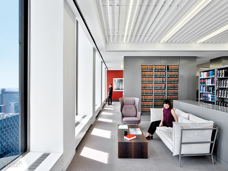 Hayon Studio\u0027s chair meets Ronan \u0026 Erwan Bouroullec\u0027s sofa in the library. Photography by Eric Laignel. & White \u0026 Case\u0027s NYC Headquarters by HOK and HYL Architecture Is Calm ...