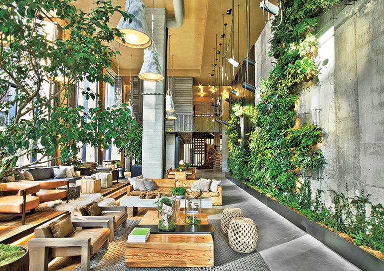 Inc architecture design keeps it local at 1 hotel for Table decor international inc
