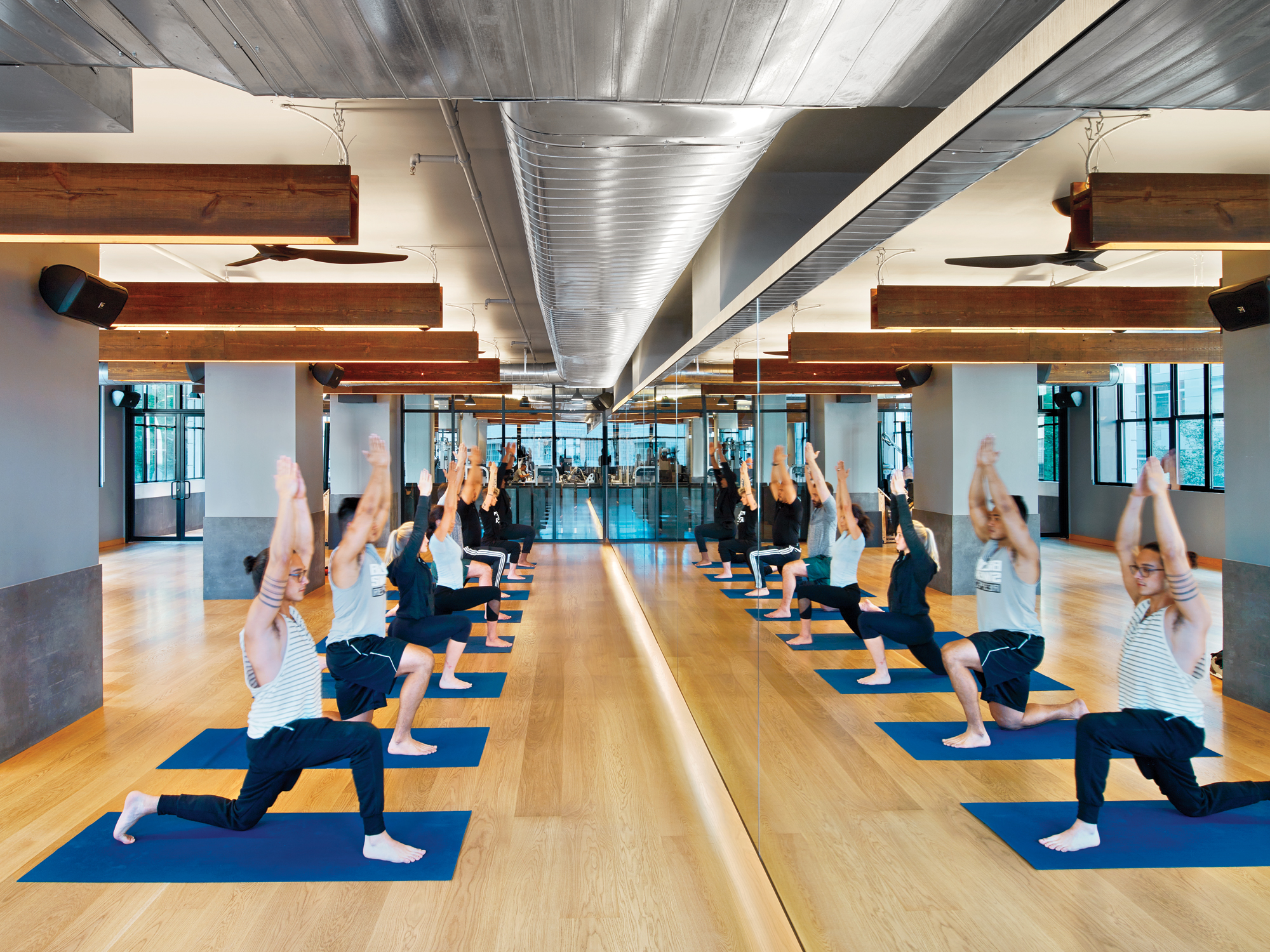 Inc architecture design gives an equinox gym the loft
