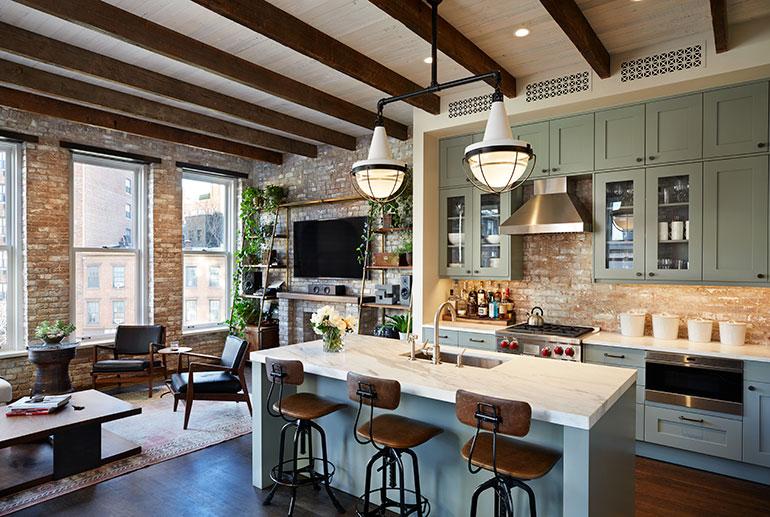 Groovy Emporium Design Adds Elegance To A New York Loft Home Interior And Landscaping Eliaenasavecom