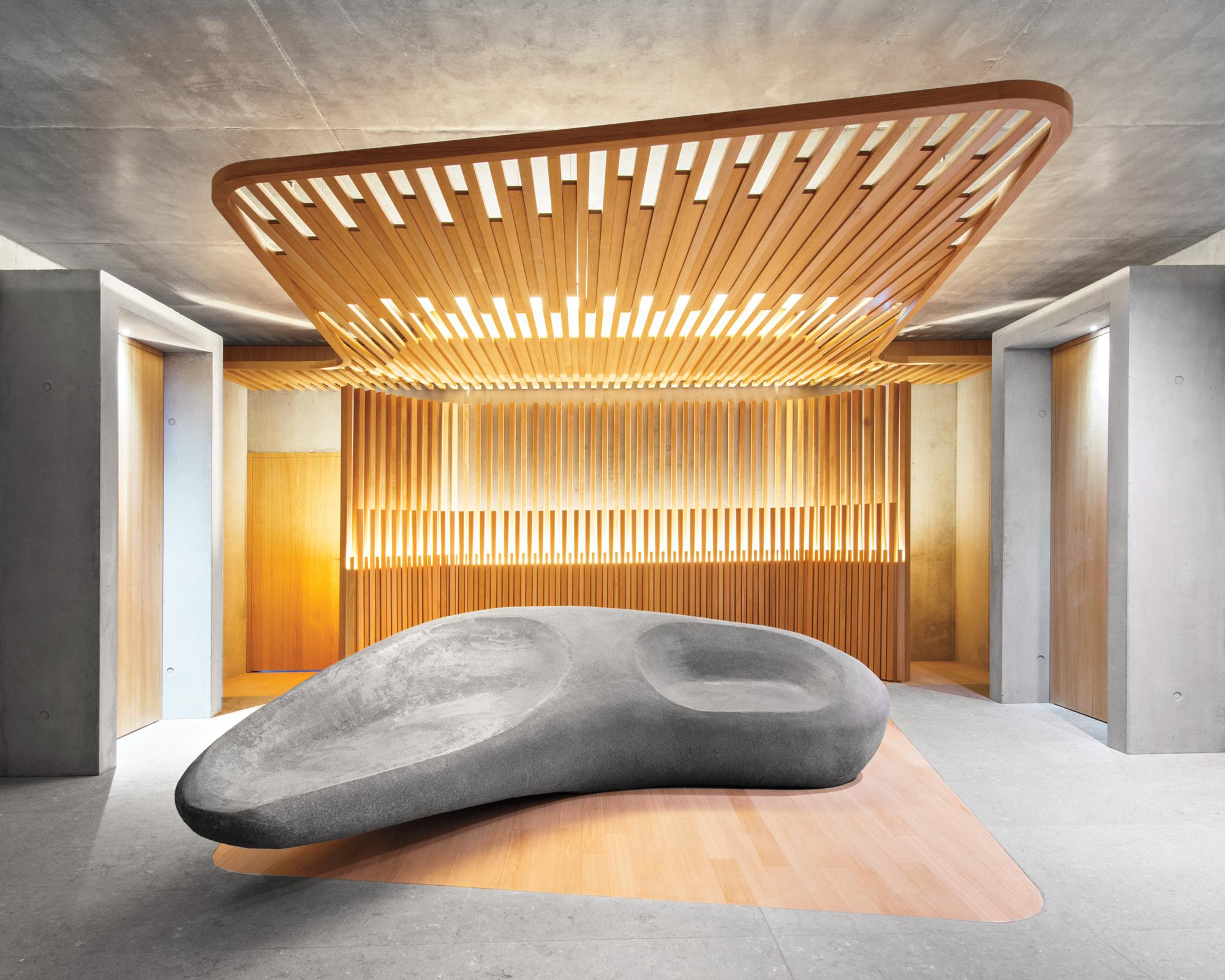 Jouin manku designs sensory annex for h tel des berges in for Hotel design spa france
