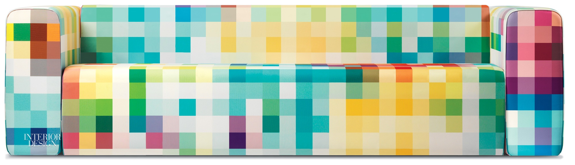 Cristian Zuzunaga Clads Sofas in One-of-a-Kind Pixel Fabric