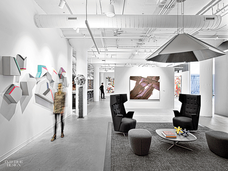 In The Lounge Chairs By Jorge Pensi Design Studio Flank Kerry Armstrongs Gicle Print Indigo Photography Eric Laignel