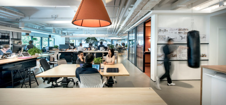 office interior photos. Firm: M Moser Associates. Site: Hong Kong. Photography By Office Interior Photos R
