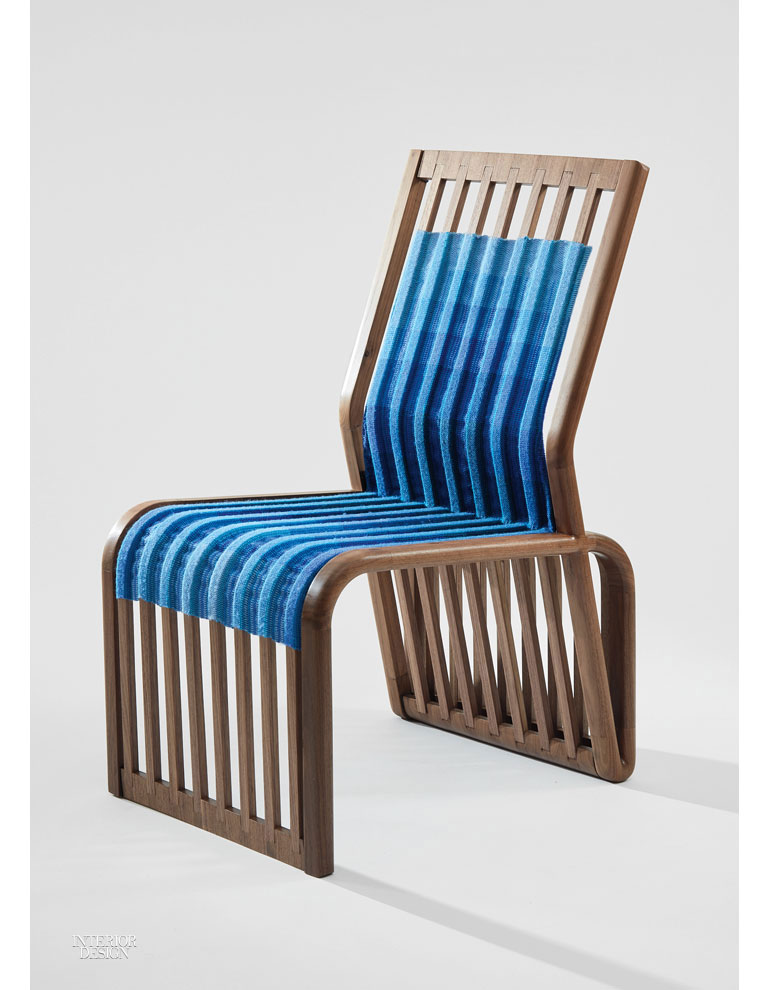 High Quality Blue Bend Chair By Todd Anderson And Claire Harvey.