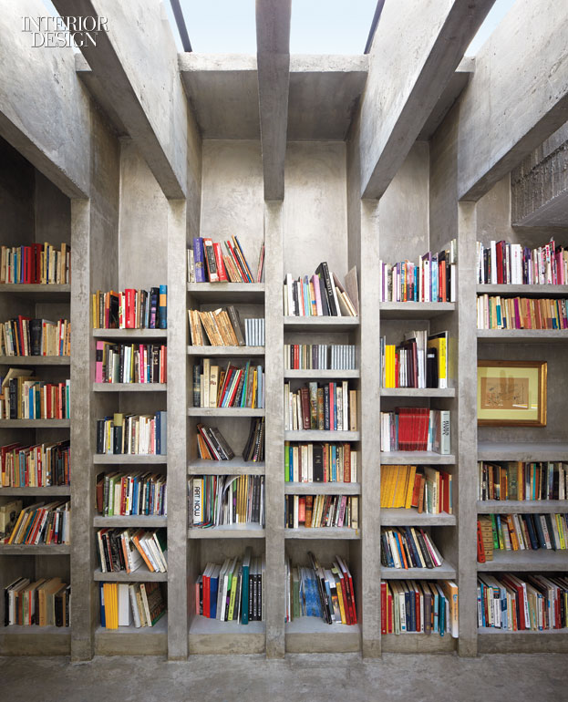 faux library artist pedro reyes s brutalist inspired pad in mexico city 14872