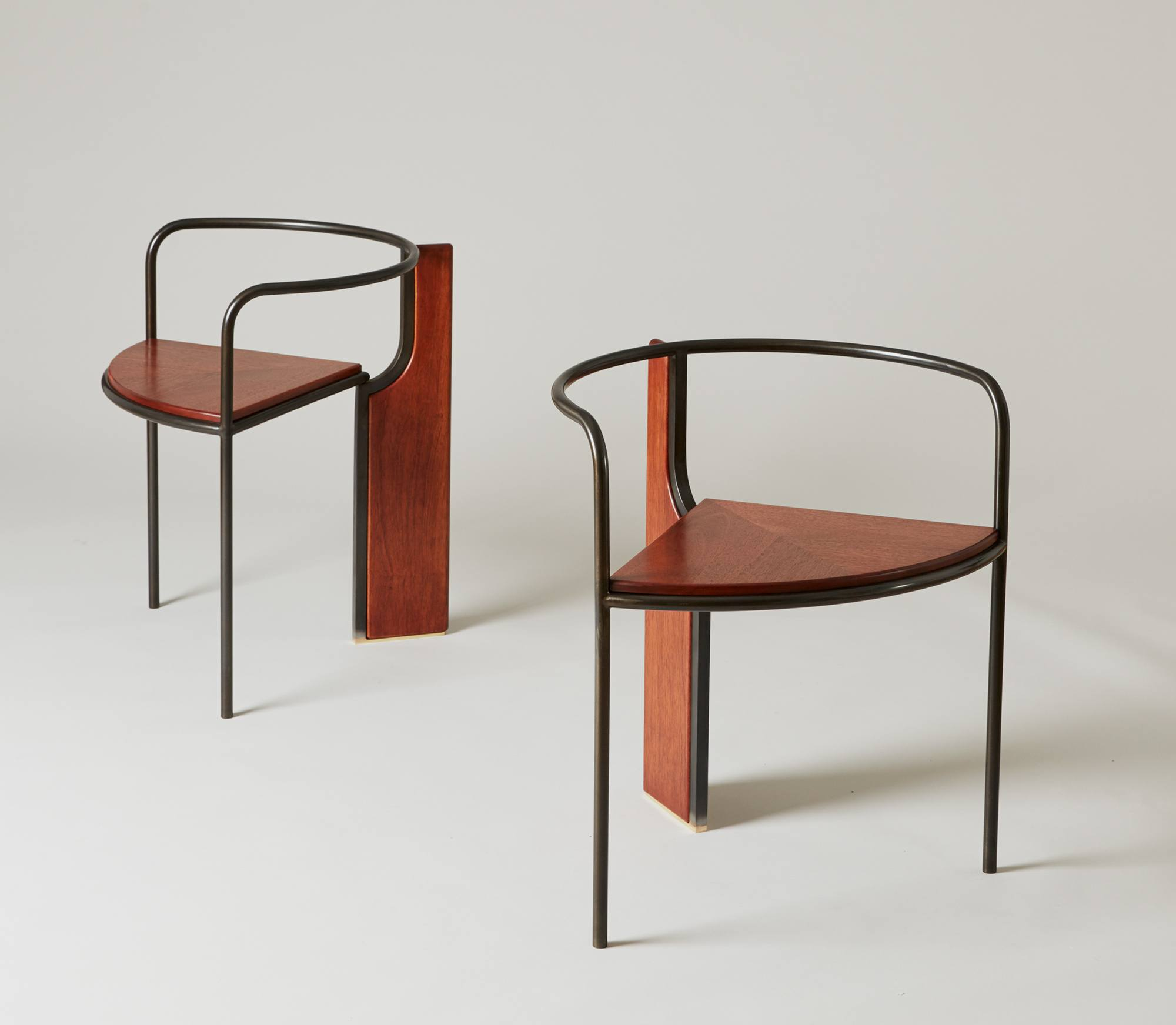 Fin Chair In Polished Solid Mahogany And Blackened Steel. Image Courtesy Of  Pelle And Erie Basin.
