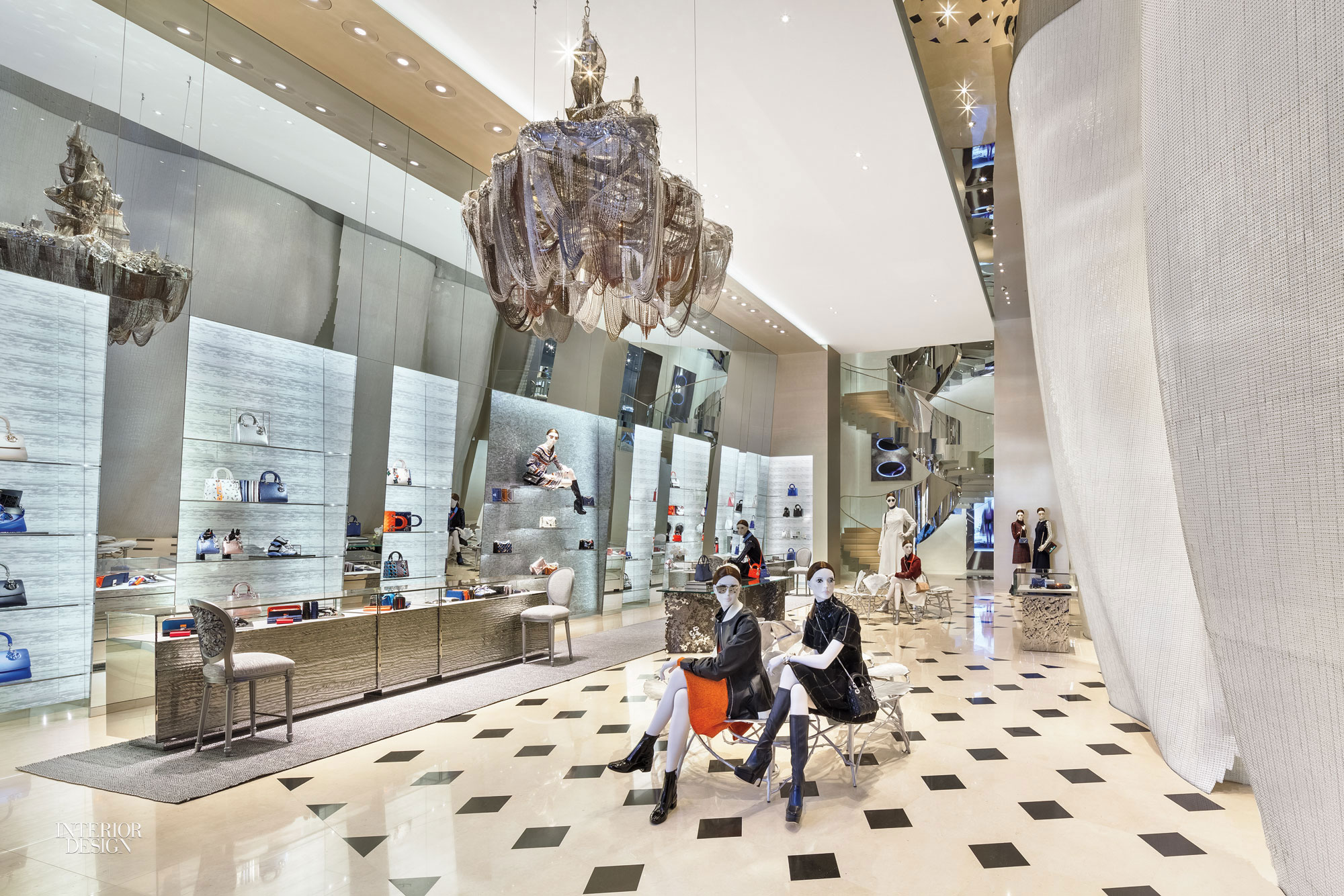 Peter marino designs seoul mega store for dior for Boutique decoration maison