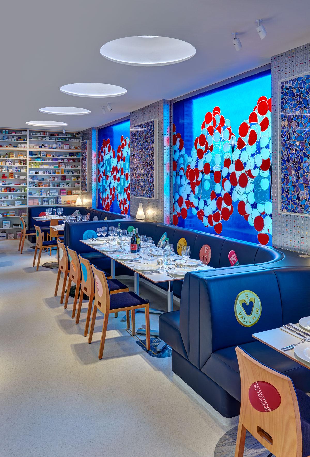 Damien Hirst Prescribes A Dose Of Fine Art At Pharmacy 2 Restaurant Interior Design Magazine