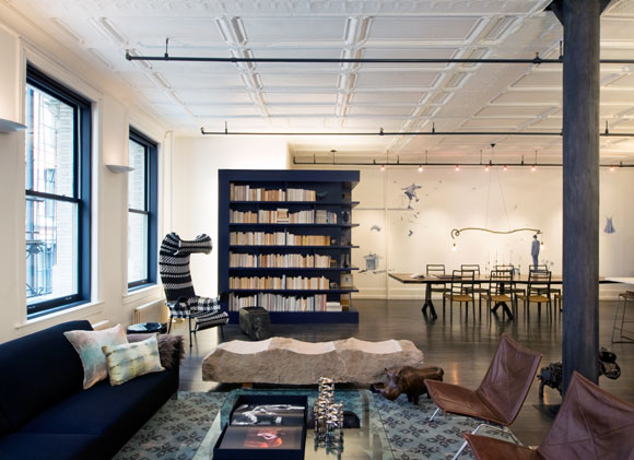The Living Area Of A Mercer Street Loft In New York Photo Courtesy DHD