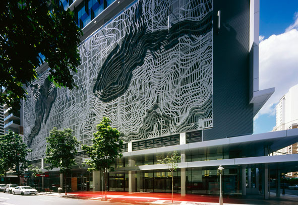 Urban art projects transforms parking garage in australia for Architecture firms brisbane