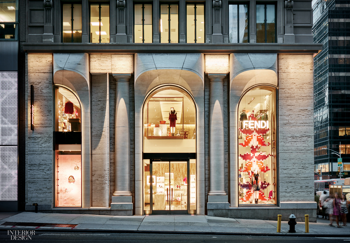 fendi 39 s flagship by peter marino brings italy to midtown. Black Bedroom Furniture Sets. Home Design Ideas